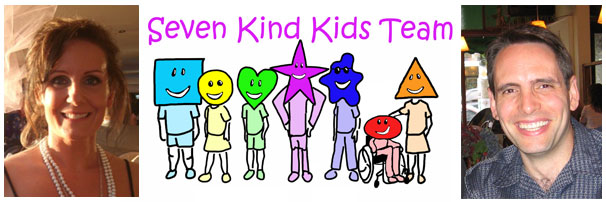 Seven Kind Kids Team - Binah Godisall - Square Stanely the Fourth - Celia Circle - Happy Heart - Laughing Star - James Shadow - Randy Rock - Trina Harmony - Barry Thomas Bechta