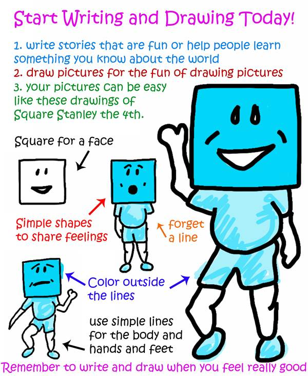 Start Writing and Drawing Today - Square Stanley the Fourth